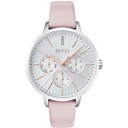 BOSS Ladies Symphony Pink Leather Watch
