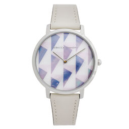 Rebecca Minkoff Ladies Major White Leather Watch
