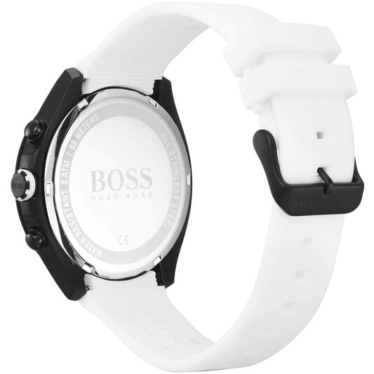 BOSS Men's Velocity White Silicone Watch