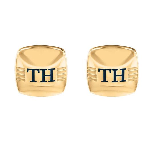 Tommy Hilfiger Men's Gold Plated Logo Cufflinks