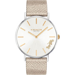 Coach Ladies Perry Metallic Leather Watch