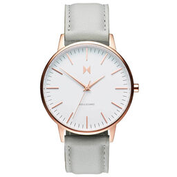 MVMT Ladies Boulevard Grey Leather Watch