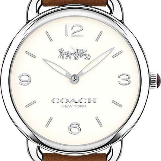 Coach Ladies Delancey Slim Brown Calfskin Watch