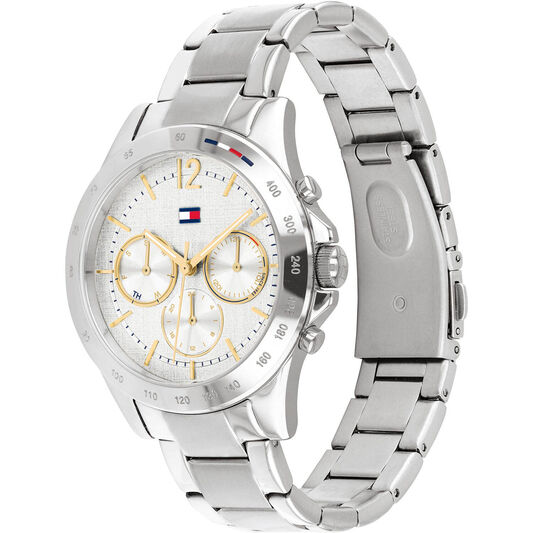 Tommy Hilfiger Ladies Grey Plated Watch