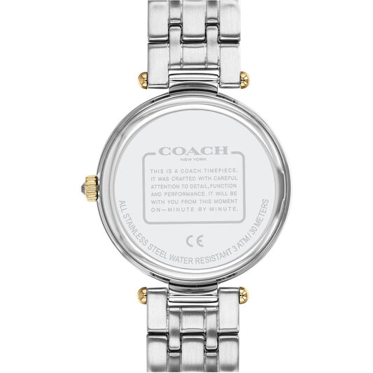 Coach Ladies Park Triple-Tone Stainless Steel Watch