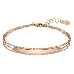 BOSS Ladies Insignia Carnation Gold Bracelet