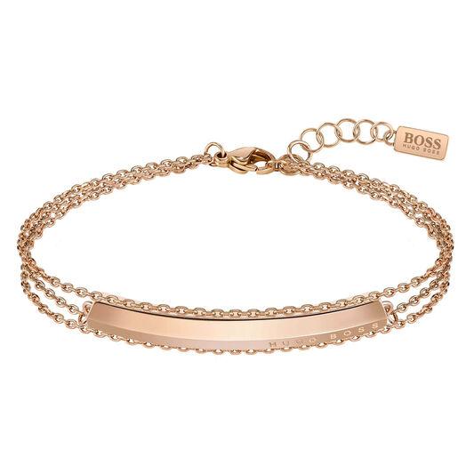 BOSS Ladies Insignia Carnation Gold Bracelet