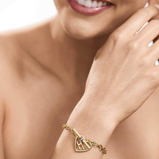 Tommy Hilfiger Ladies Gold Heart Toggle Bracelet
