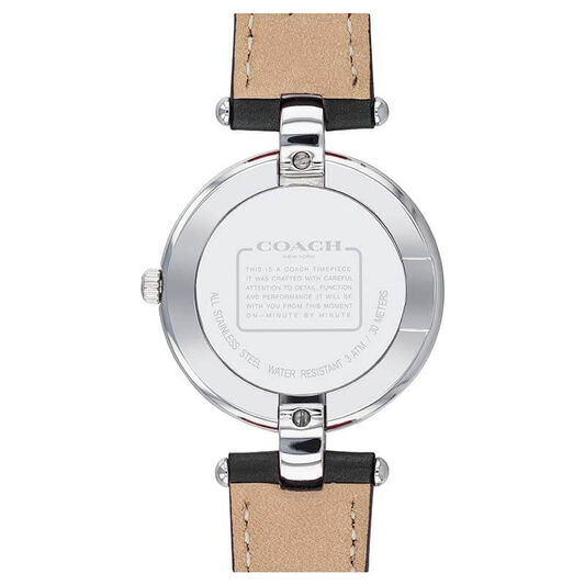 Coach Ladies Chrystie Black Calfskin Watch