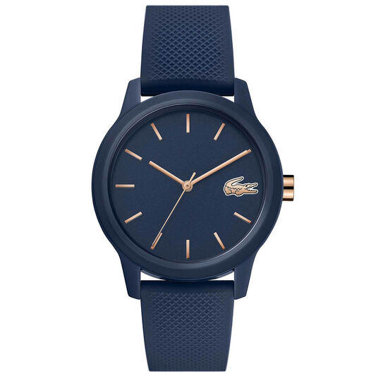 Lacoste Ladies Lacoste.12.12 Blue Silicone Watch