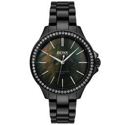 BOSS Ladies Victoria Black Ceramic Watch