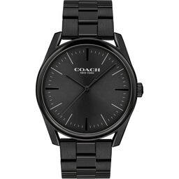 Coach Men's Modern Luxury Black Plated Watch
