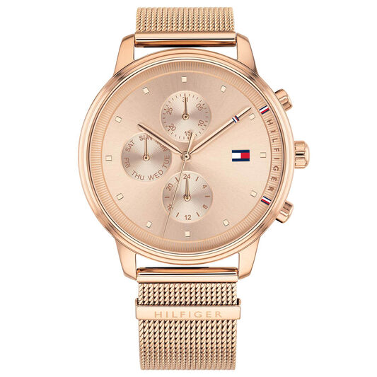 Tommy Hilfiger Ladies Rose Gold Plated Watch