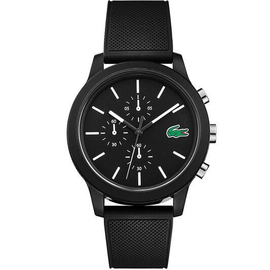 Lacoste Men's Lacoste.12.12 Black Silicone Watch