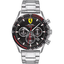 Scuderia Ferrari Men's Pilota Evo Stainless Steel Watch