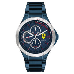 Scuderia Ferrari Men's Pista Blue Plated Watch
