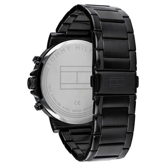 Tommy Hilfiger Men's Black Plated Watch
