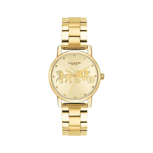 Coach Ladies Grand Gold Plated Watch