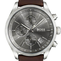 BOSS Men's Grand Prix Brown Leather Watch