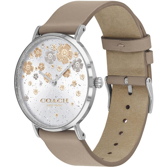 Coach Ladies Perry Stone Calfskin Watch