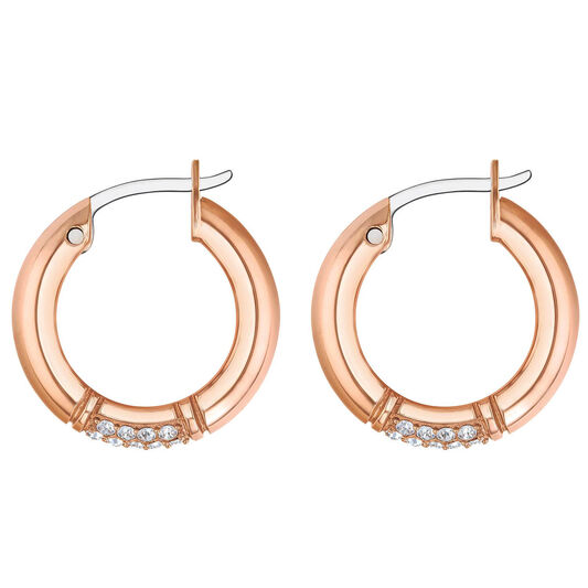 Tommy Hilfiger Ladies Carnation Gold Crystal Earrings