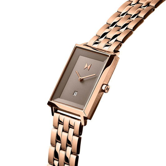 MVMT Ladies Signature Square Rose Gold Plated Watch