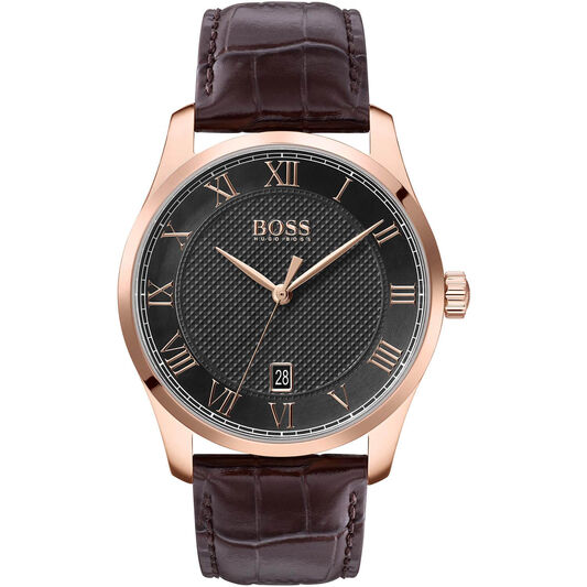 BOSS Men's Master Brown Leather Watch