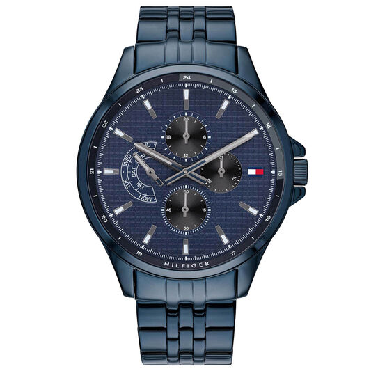 Tommy Hilfiger Men's Blue Plated Watch