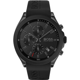 BOSS Men's Velocity Black Silicone Watch