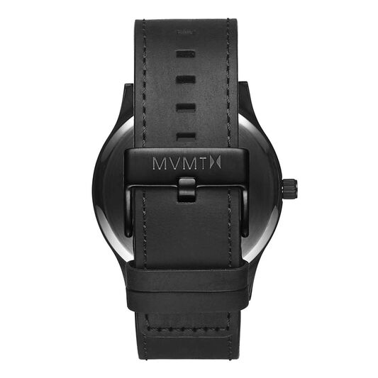 MVMT Men's Classic Black Leather Watch