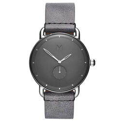 MVMT Men's Revolver Grey Leather Watch