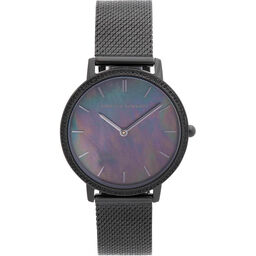 Rebecca Minkoff Ladies Major Black Plated Watch