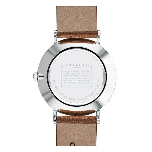 Coach Ladies Perry Brown Calfskin Watch