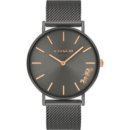 Coach Ladies Perry Grey Plated Watch