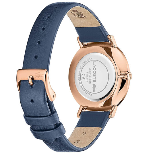 Lacoste Ladies Moon Blue Leather Watch