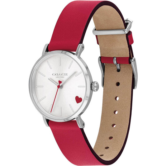 Coach Ladies Perry Red Calfskin Watch