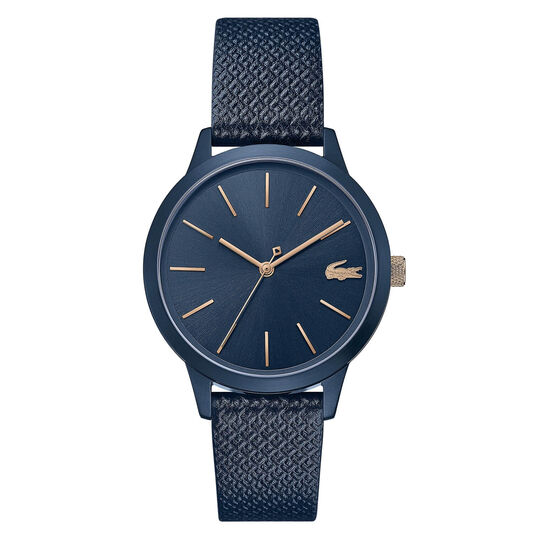 Lacoste Ladies Lacoste.12.12 Blue Leather Watch