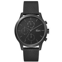 Lacoste Men's Lacoste.12.12 Black Leather Watch
