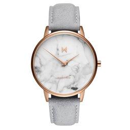 MVMT Ladies Boulevard Grey Leather Watch