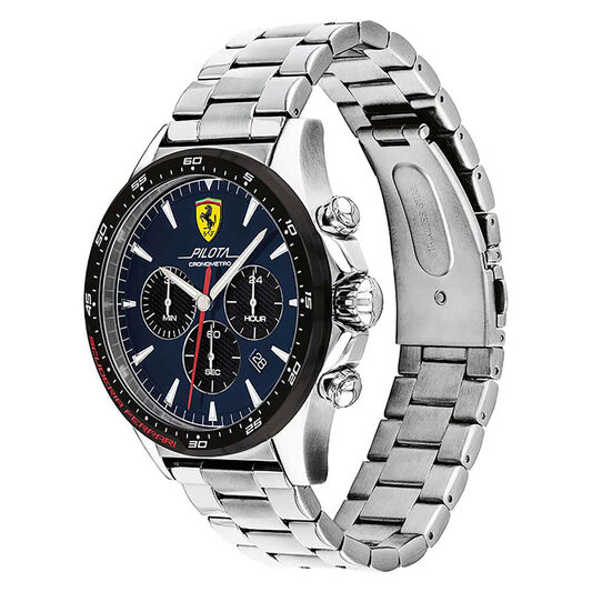 Scuderia Ferrari Men's Pilota Stainless Steel Watch