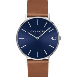 Coach Men's Charles Brown Calfskin Watch