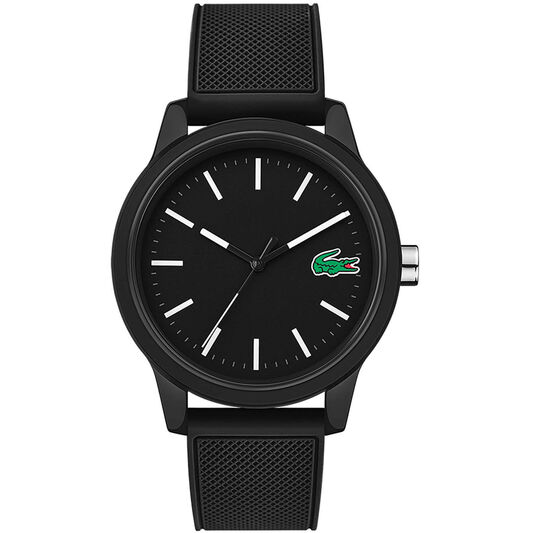 Lacoste Men's Lacoste.12.12 Black Silicone Watch