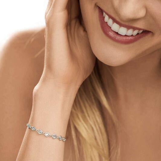 Tommy Hilfiger Ladies Silver Embellished Bracelet