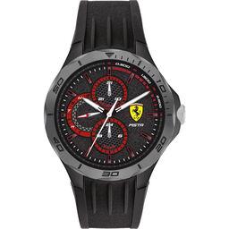 Scuderia Ferrari Men's Pista Black Silicone Watch