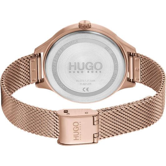 HUGO Ladies #Smash Stainless Steel Watch