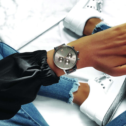 MVMT Ladies Nova Titanium & Rose Gold Plated Watch