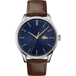 Lacoste Men's Vienna Brown Leather Watch