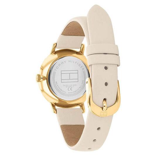 Tommy Hilfiger Ladies Beige Leather Watch