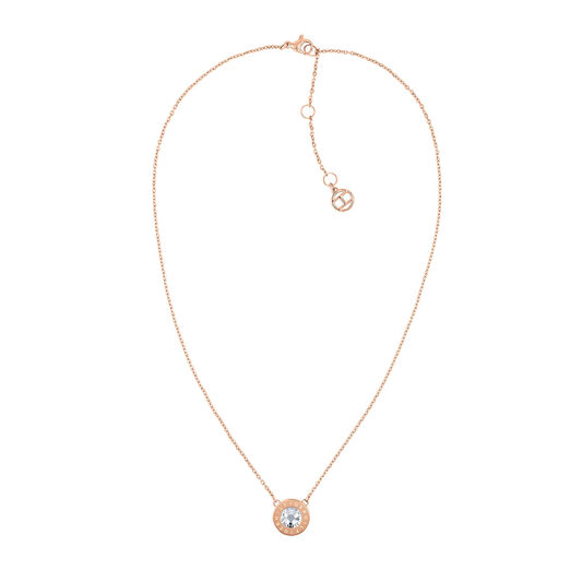 Tommy Hilfiger Ladies Rose Gold Crystal Necklace