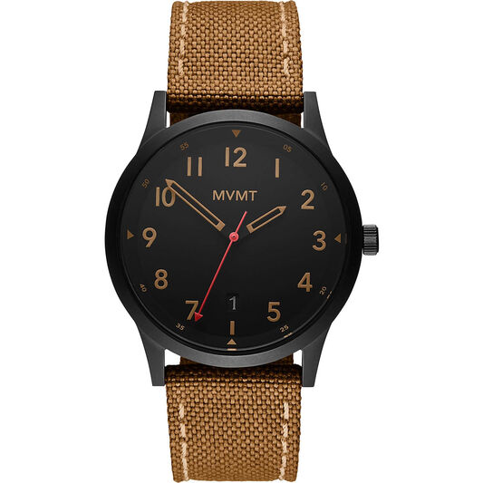 MVMT Men's Field Black Canvas Watch